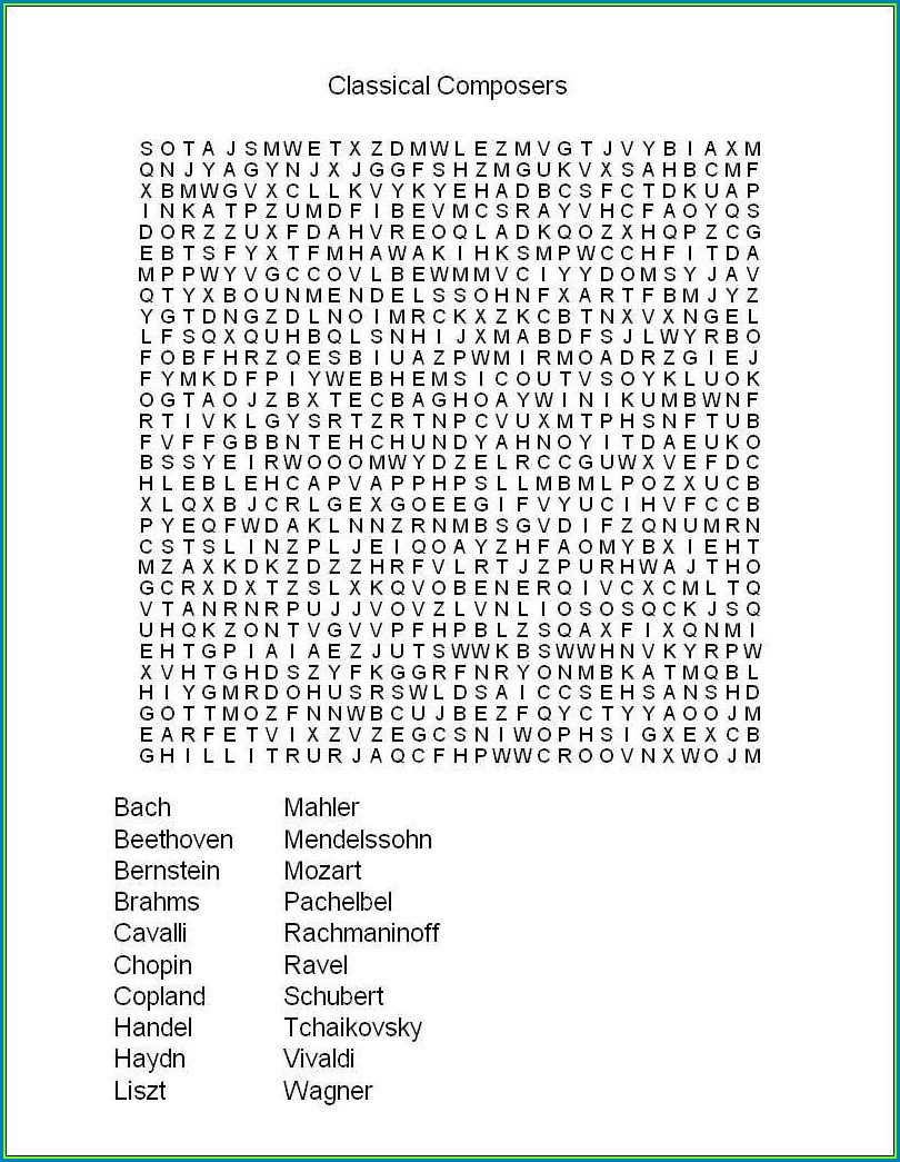 Hard Word Search Puzzles For Adults Printable