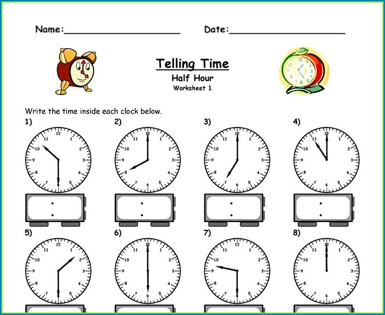 Have Fun Teaching Time Worksheets