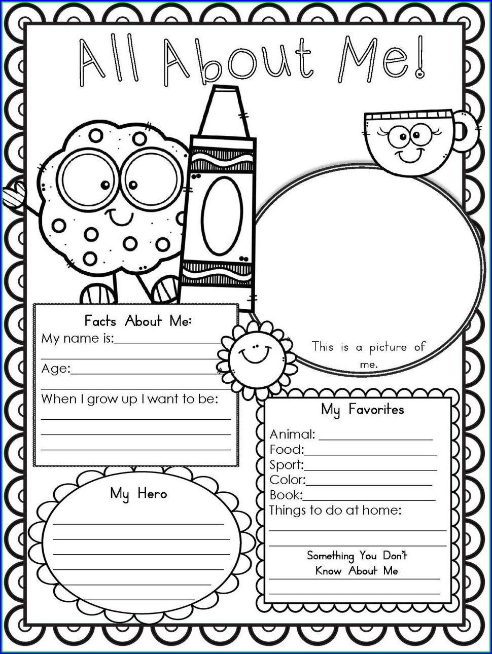 Healthy Food Worksheet For Kindergarten