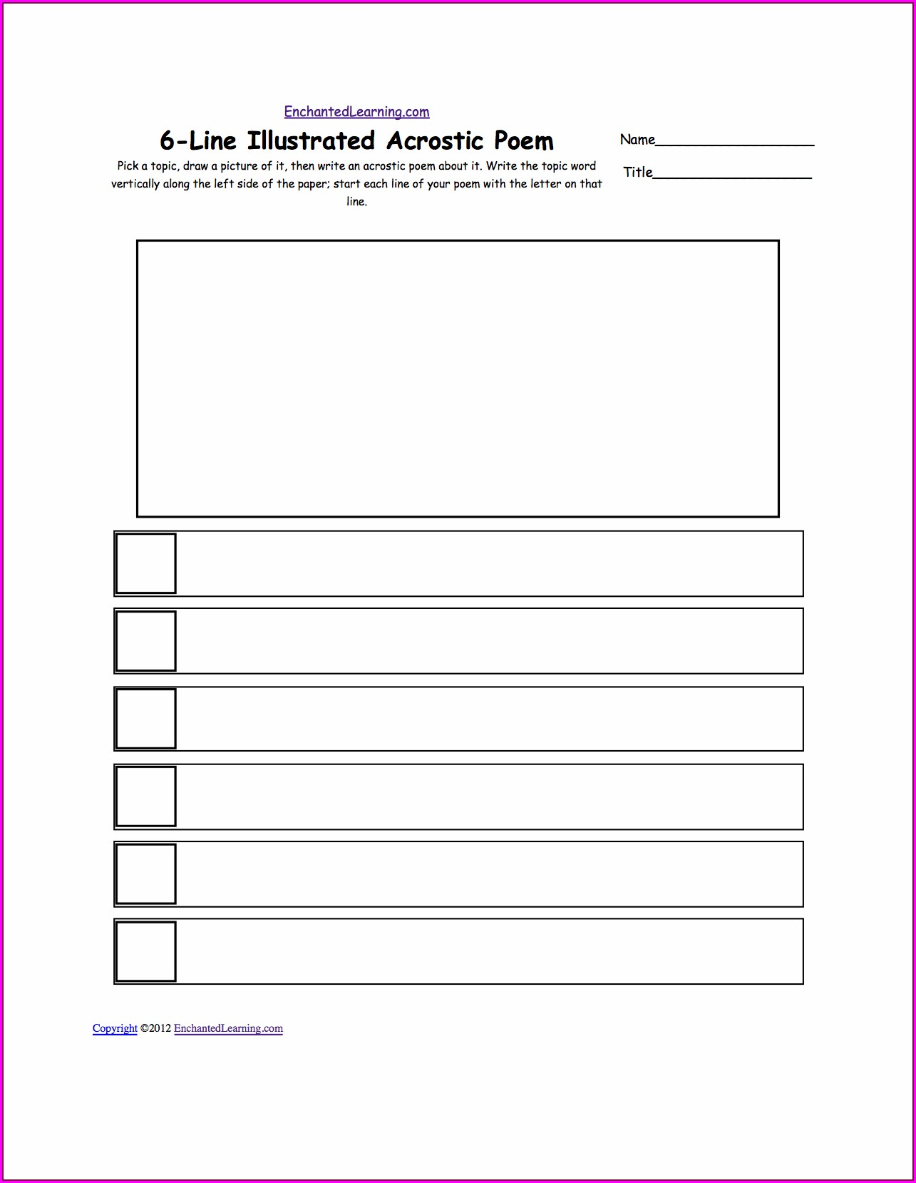 How To Write A Acrostic Poem Worksheet