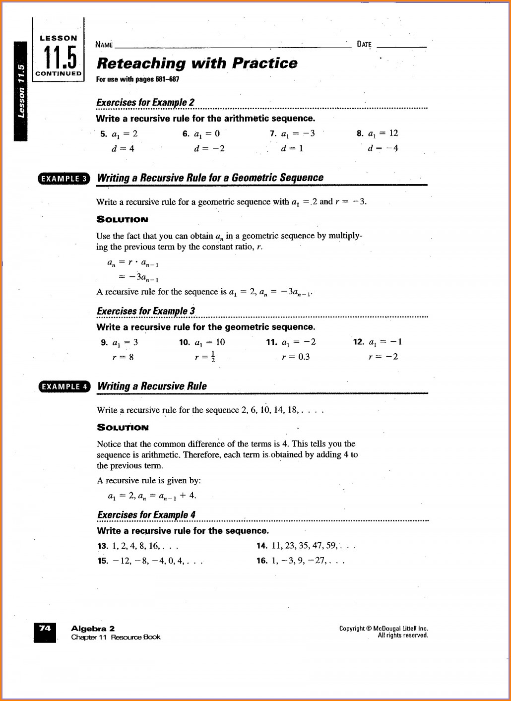 Ib Math Sl Worksheets Pdf