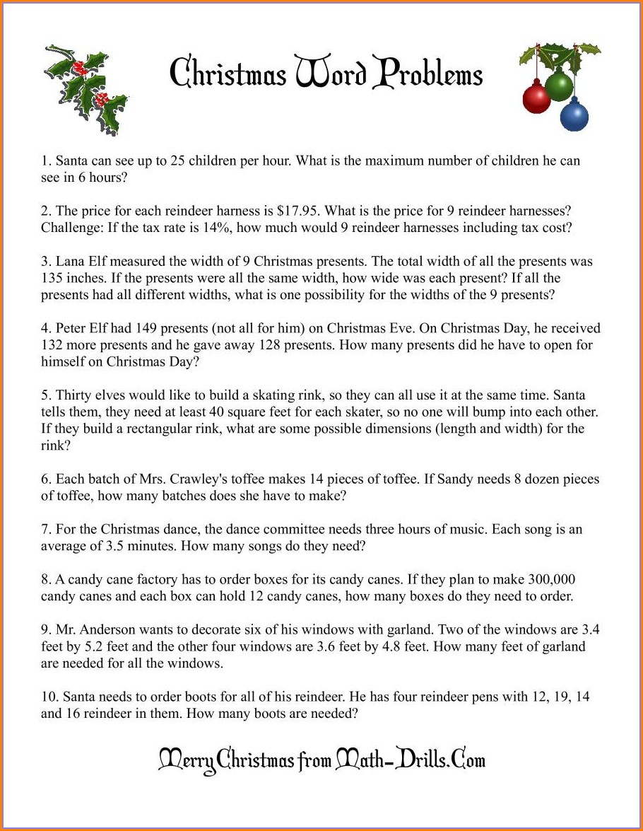 Integers Word Problems Worksheet Grade 6