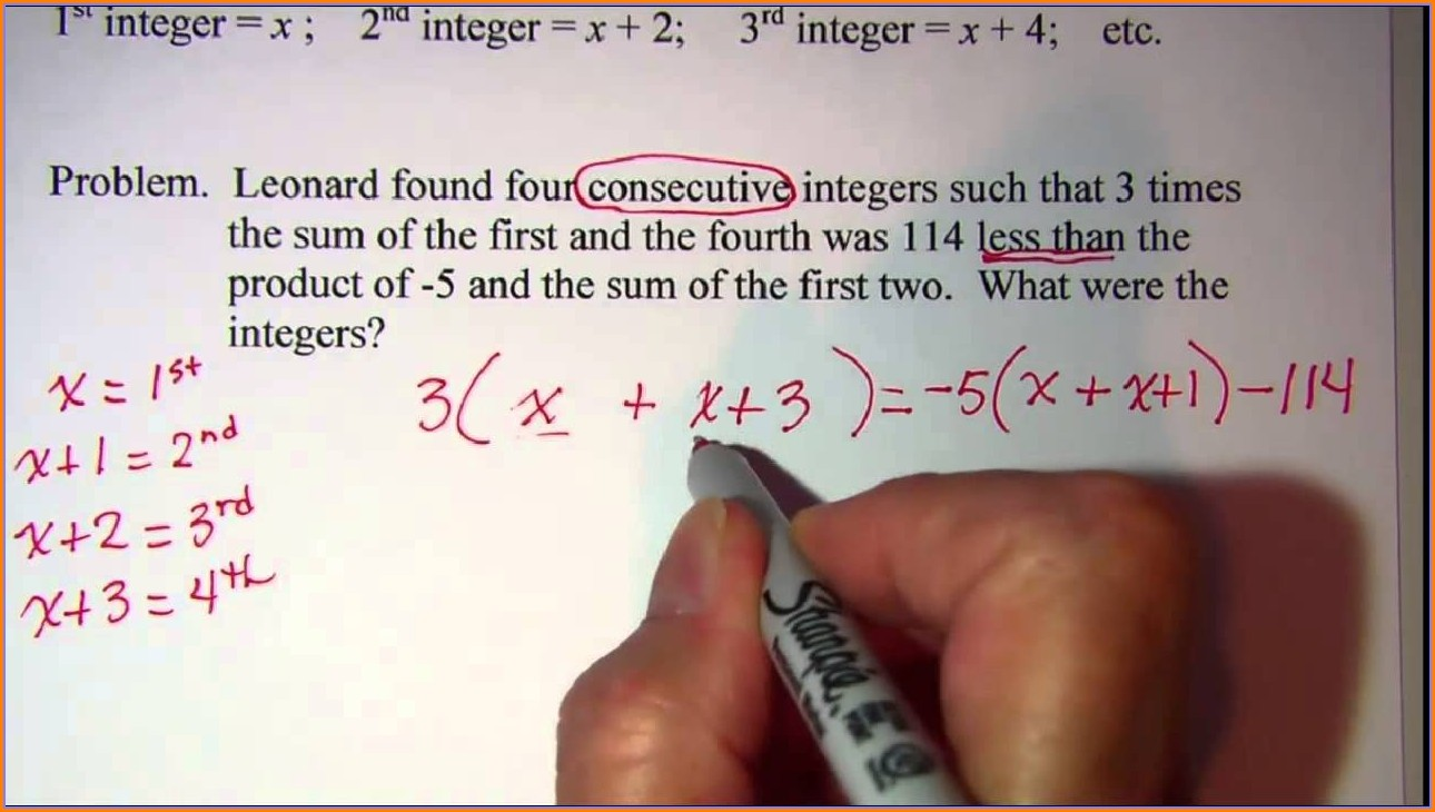 Integers Word Problems Worksheet With Answers
