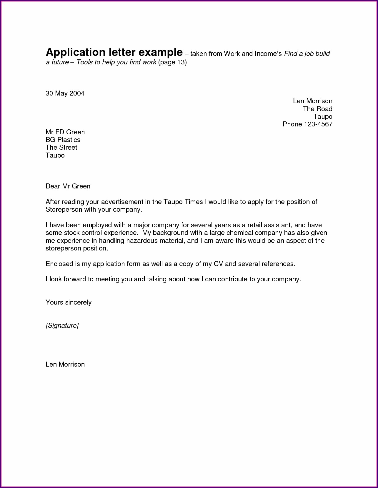 Job Application Blank Simple Resume Template