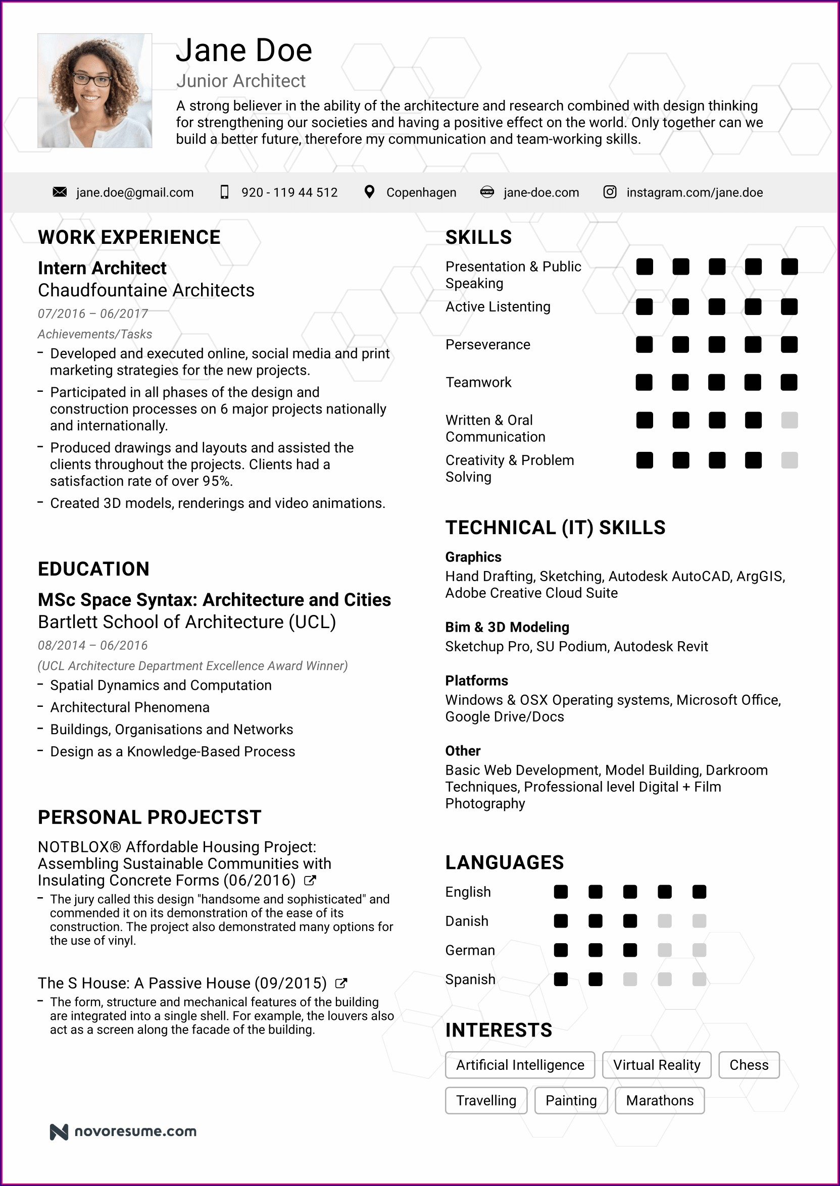 Job Format Basic Resume Examples