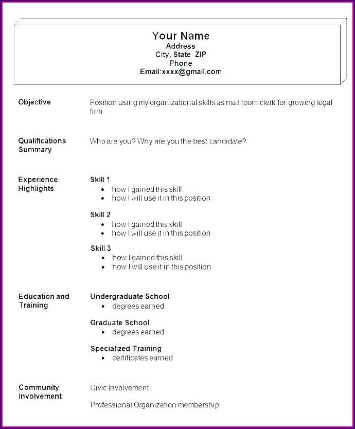 Job Resume Format Download Pdf