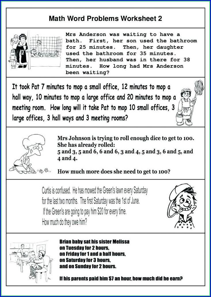 Keywords For Math Word Problems Worksheet