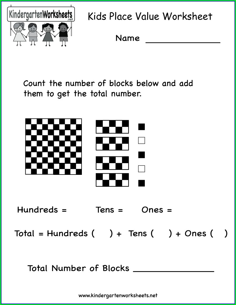 Kindergarten Number Bonds Free Worksheets