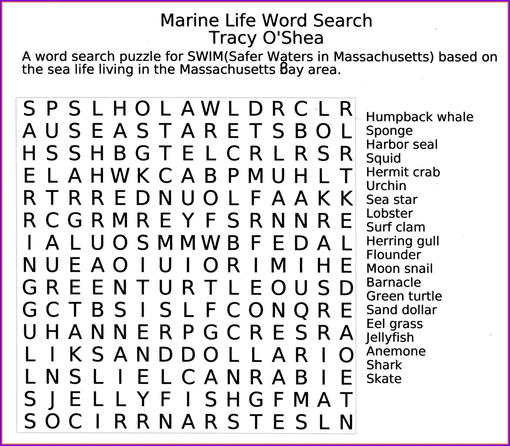 Large Print Word Search Games Printable