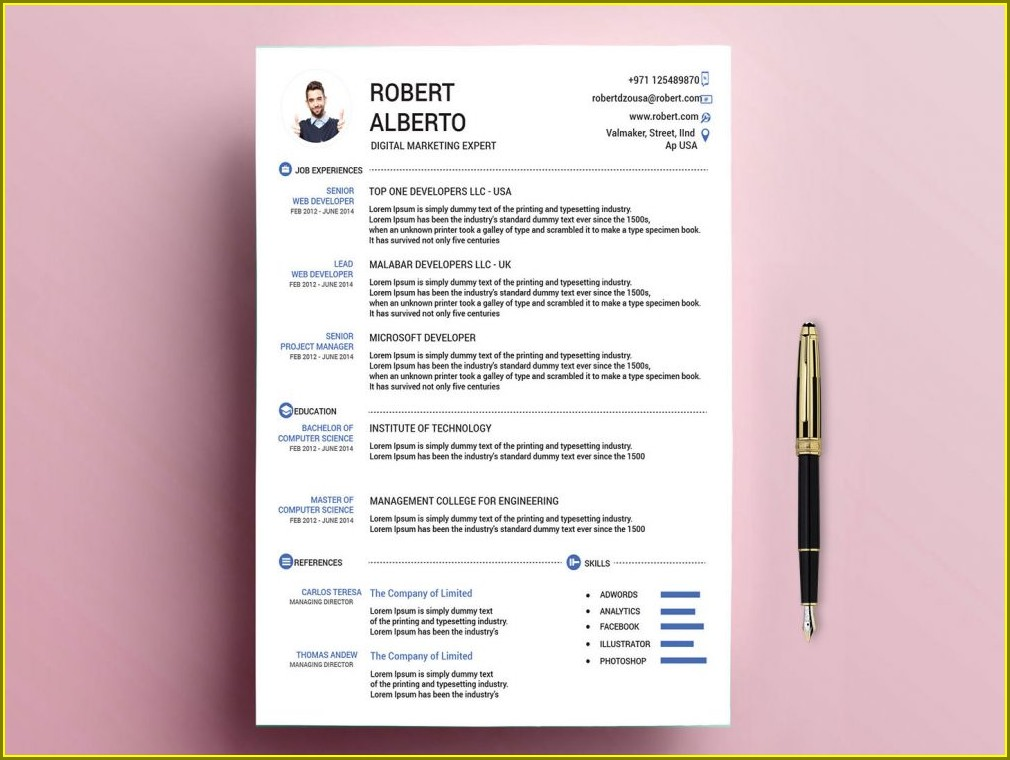 Latest Resume Format Doc 2014 Download