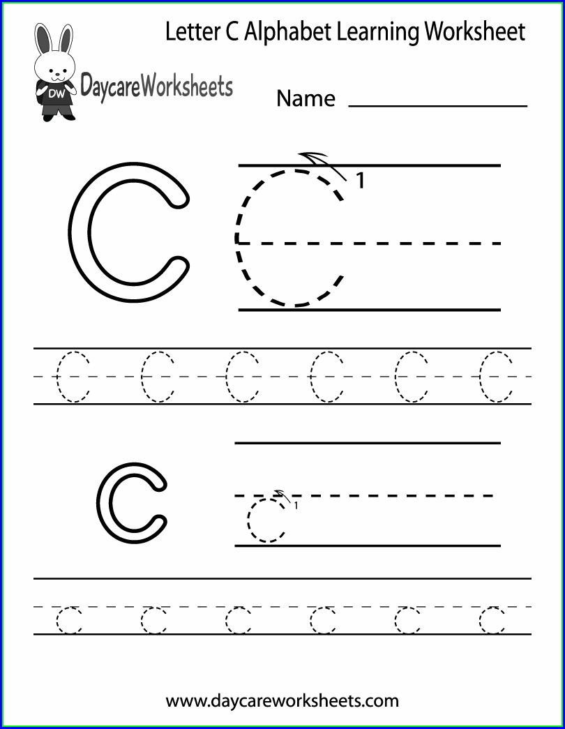 Letter Practice Worksheet Preschool