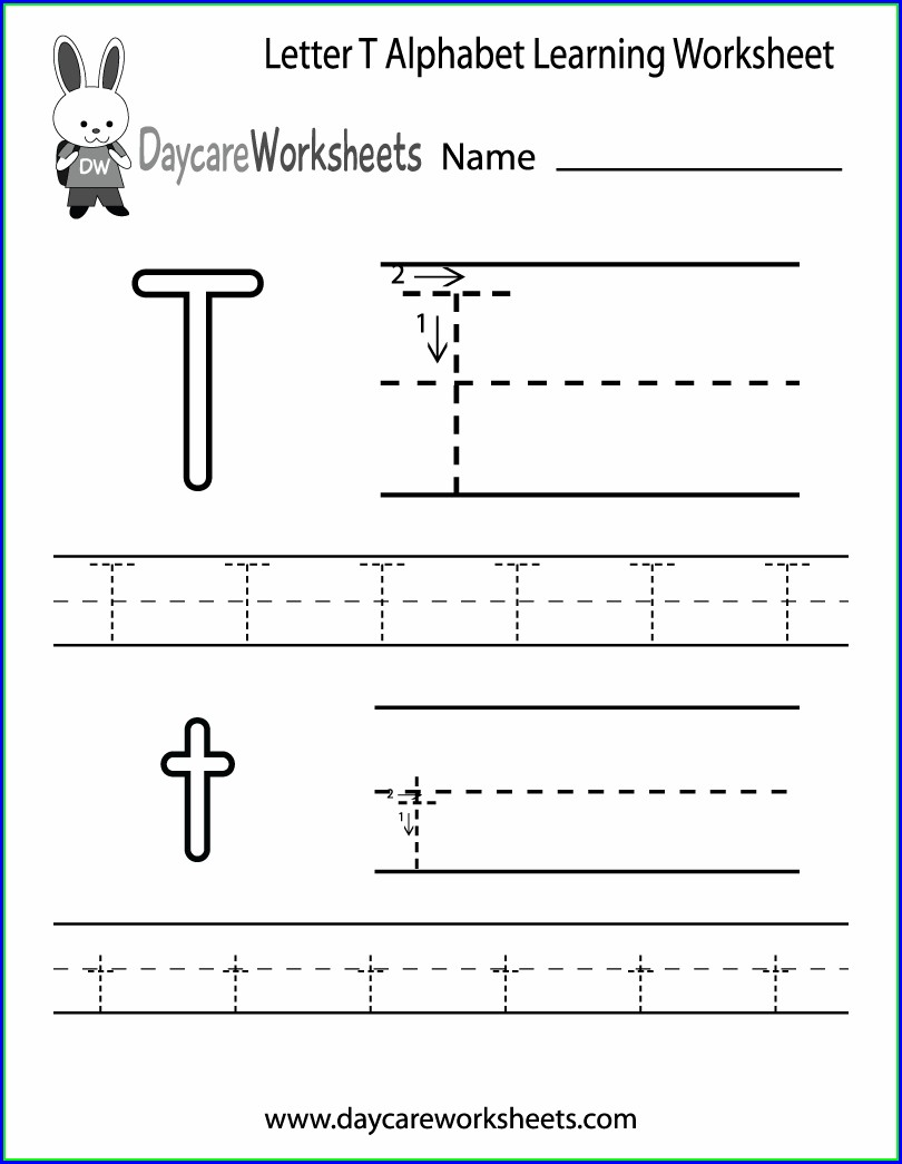 Letter T Worksheet Preschool