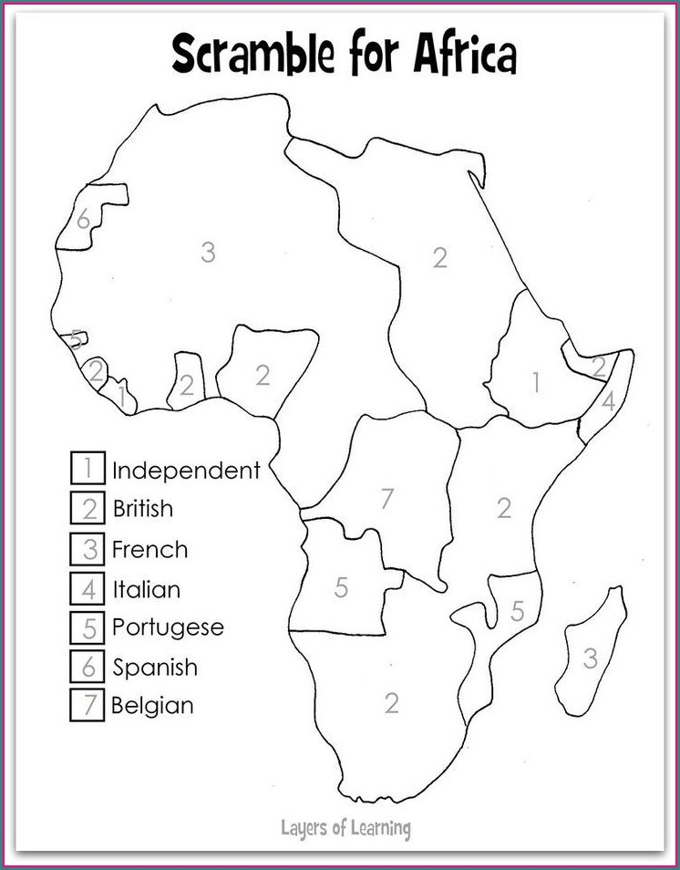 Map Of Africa Worksheet Answers
