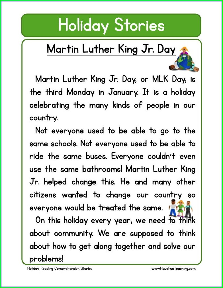 Martin Luther King Jr Day Lesson Plans For Kindergarten