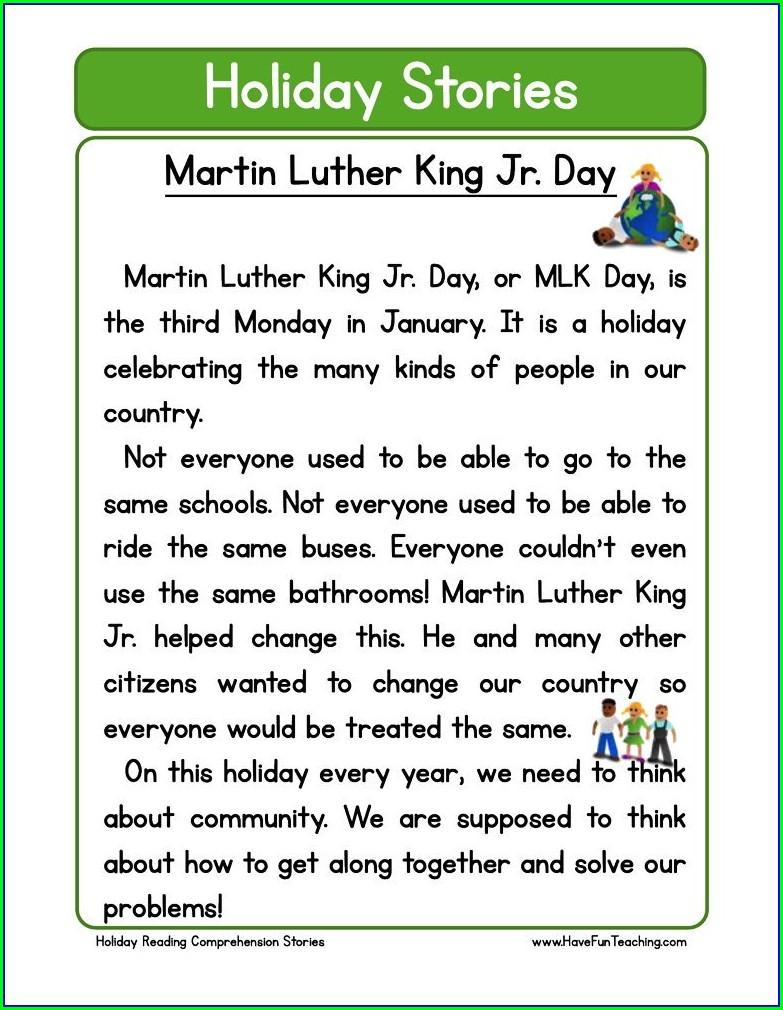 Martin Luther King Jr Day Lesson Plans For Kindergarten