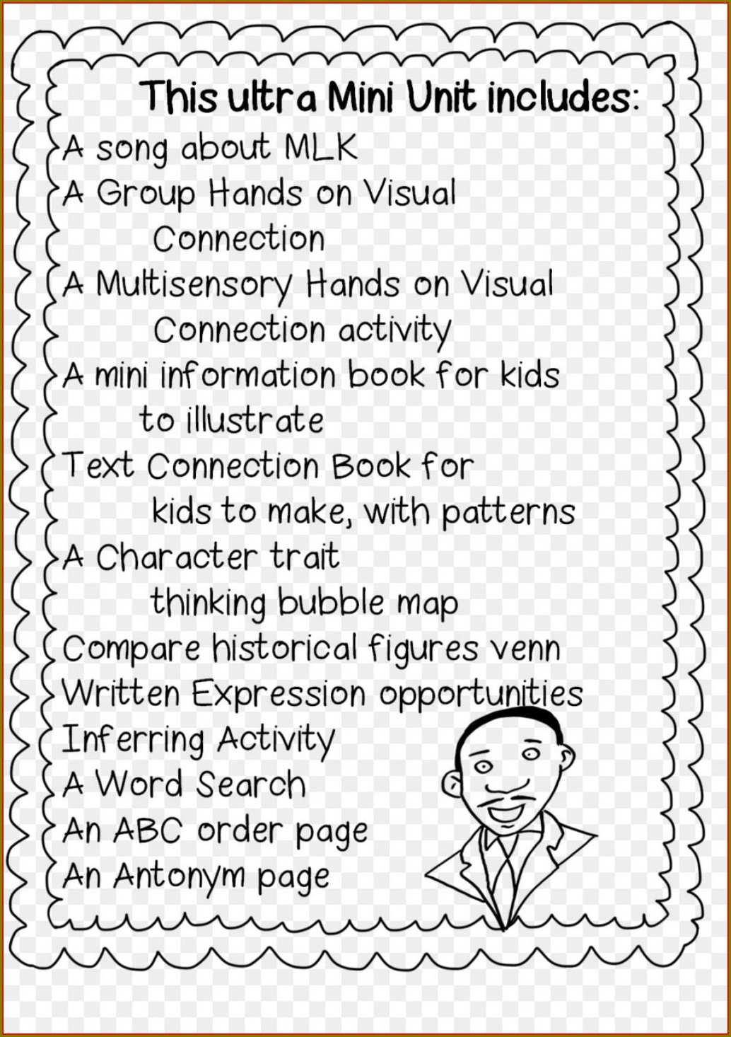 Martin Luther King Worksheets For First Grade