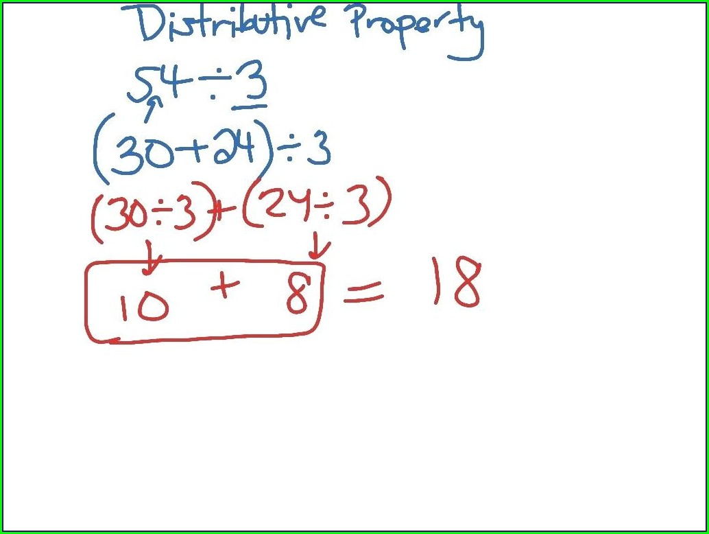 Math Worksheet Distributive Property Multiplication