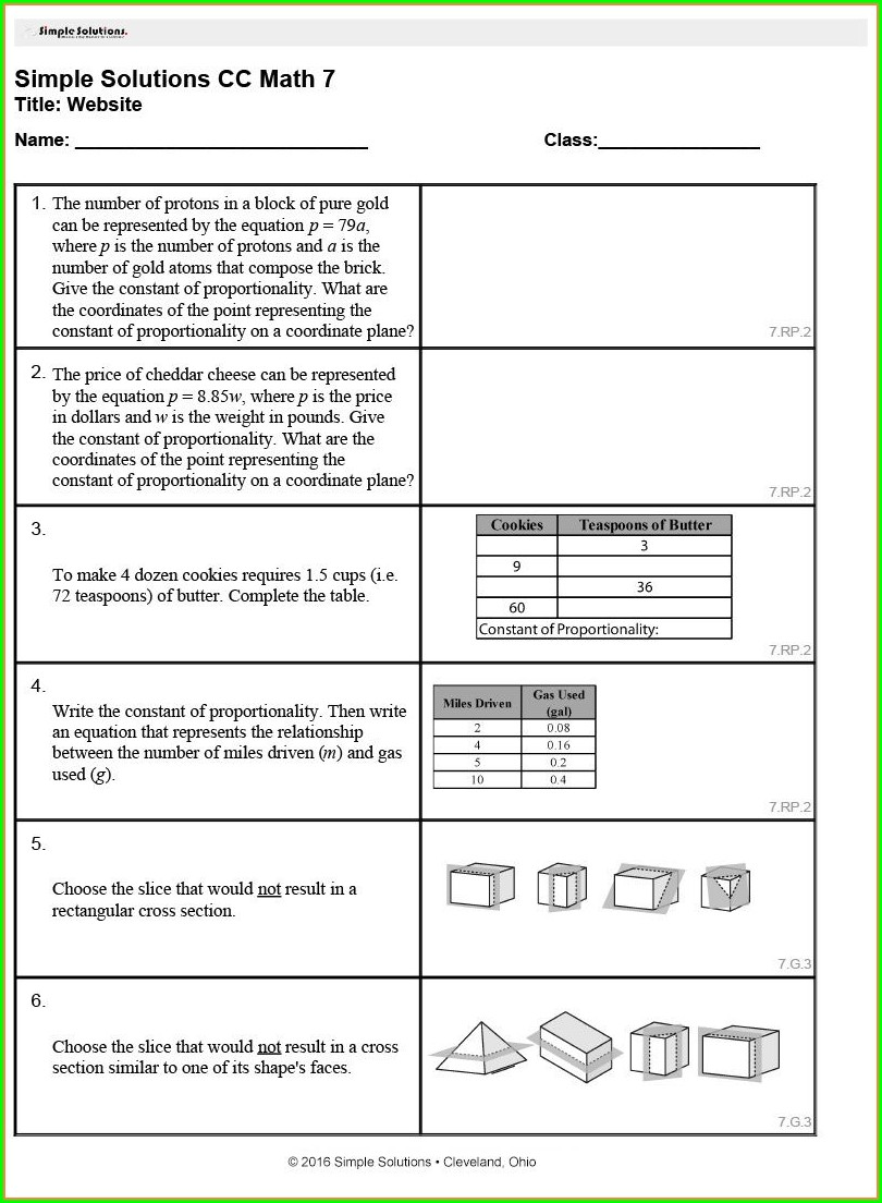 Math Worksheet Generator Common Core