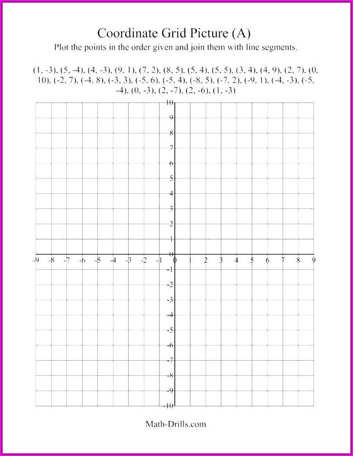 Math Worksheet Site Coordinate Plane