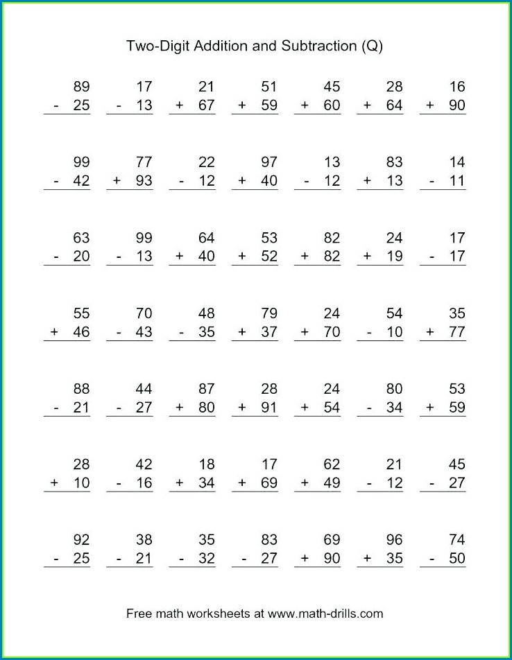 Math Worksheets For Grade 3 Subtraction With Regrouping