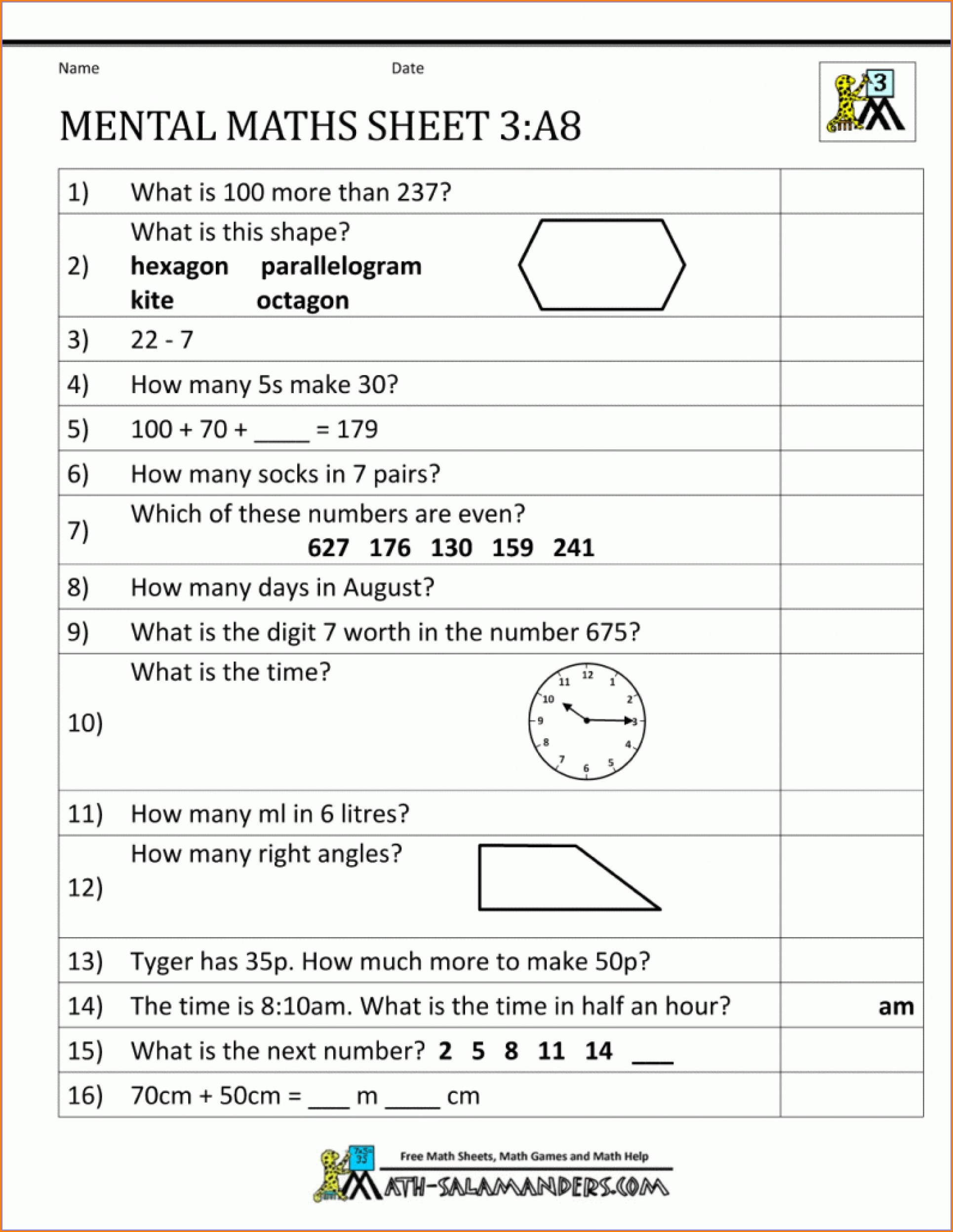 Maths Times Table Worksheets To Print