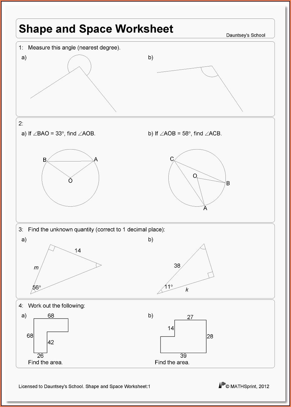 Maths Worksheet Generator Gcse