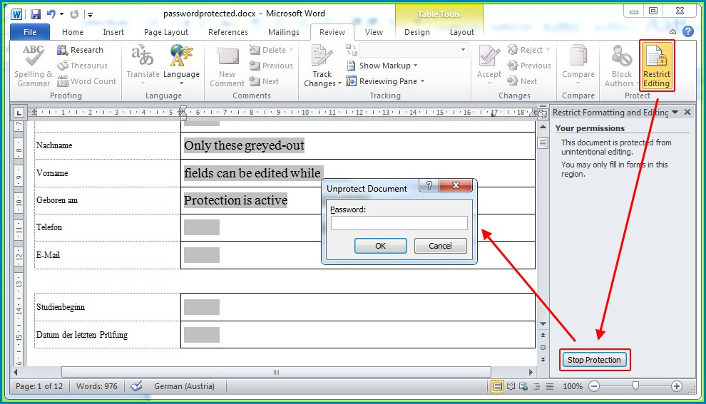 Microsoft Excel 2007 Protect Sheet Forgot Password