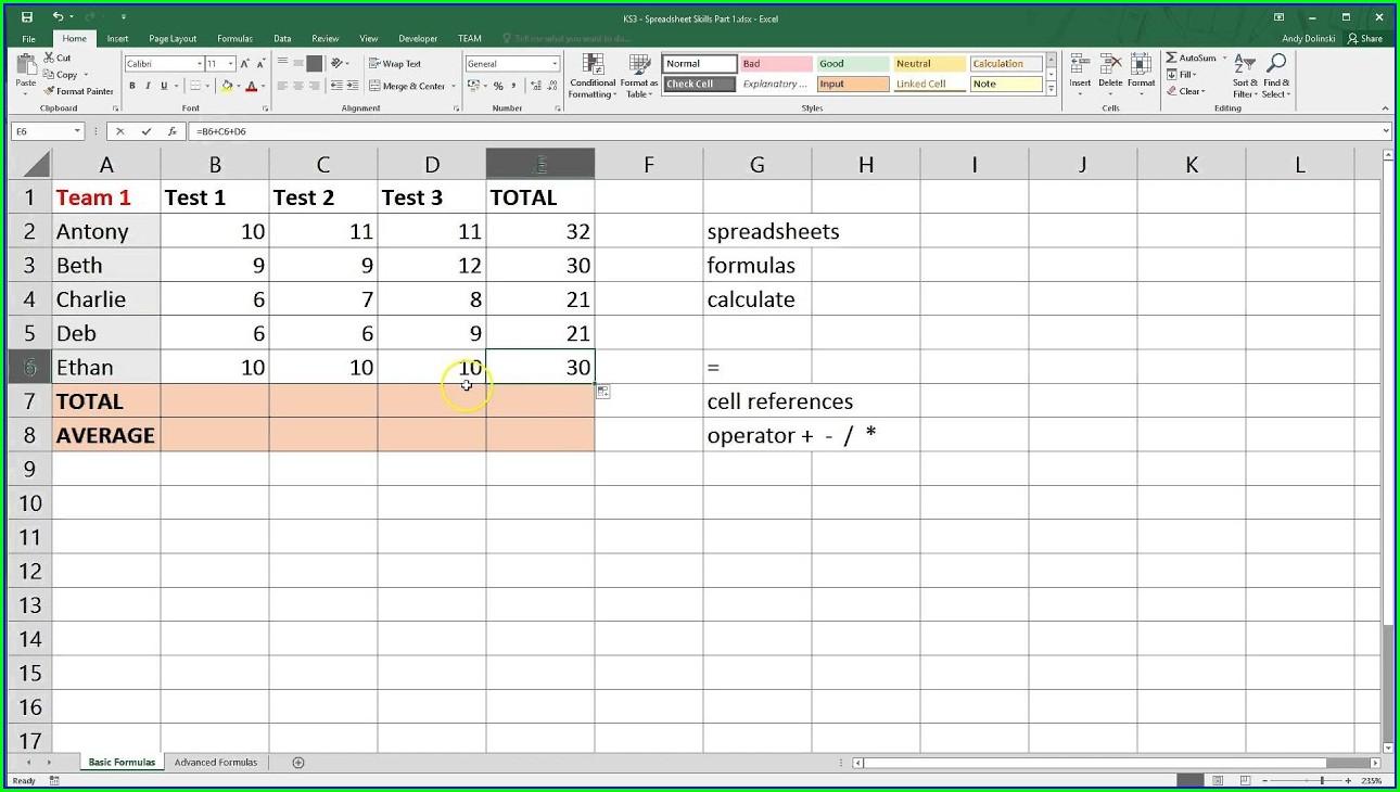 Microsoft Excel Cheat Sheet Pdf