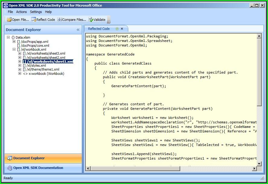 Microsoft Office Excel Xml Worksheet