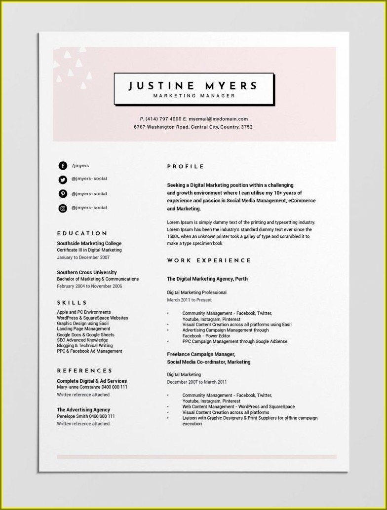 Microsoft Word Resume Builder Free Download