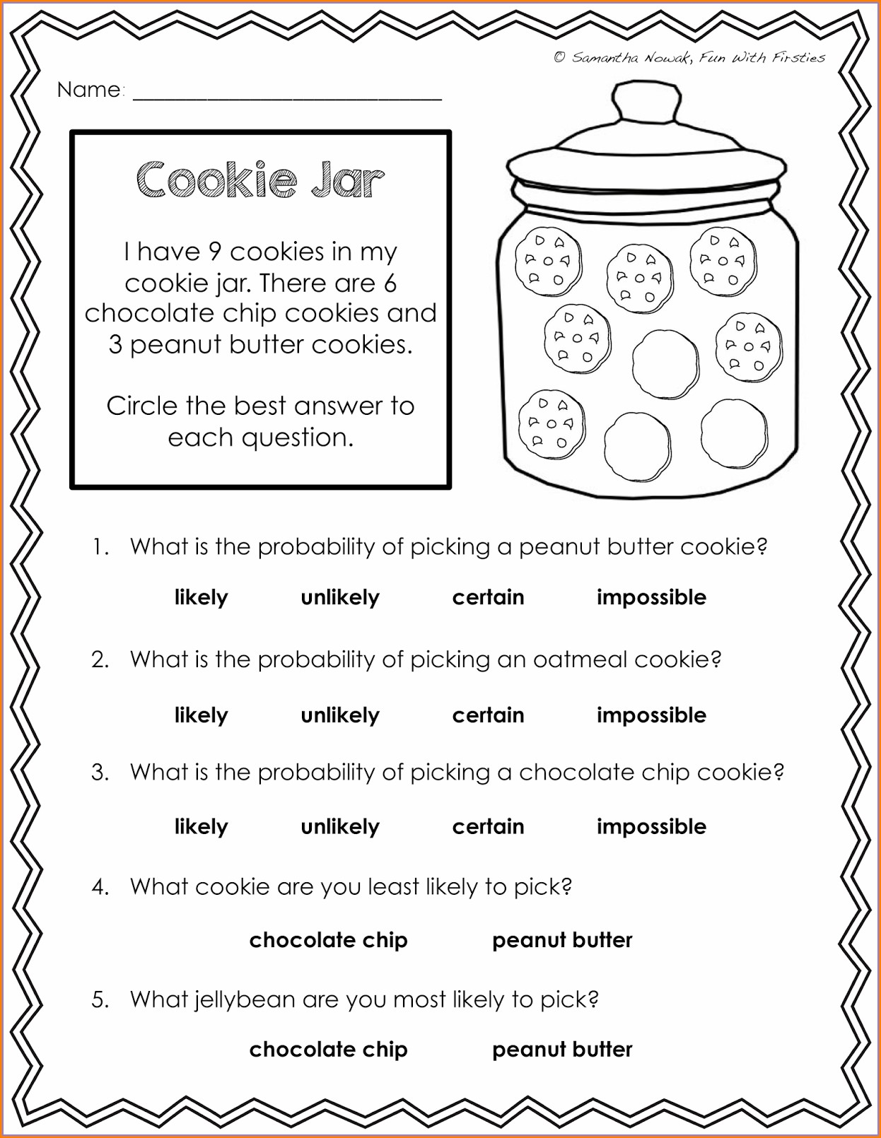 Middle School Probability Worksheets Pdf