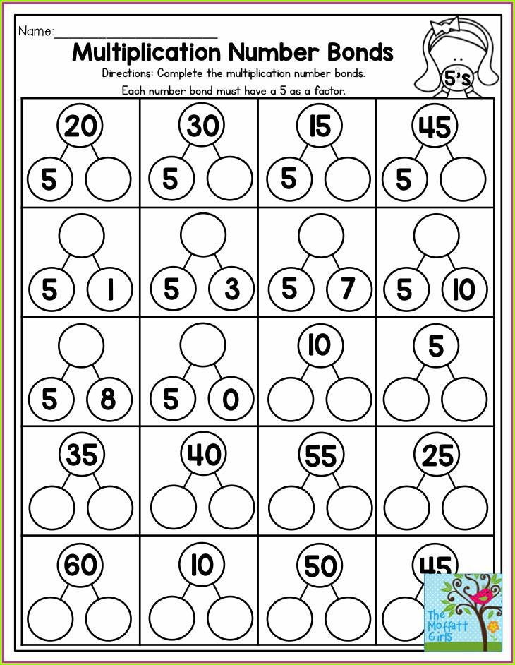 Multiplication And Division Number Bonds Worksheets