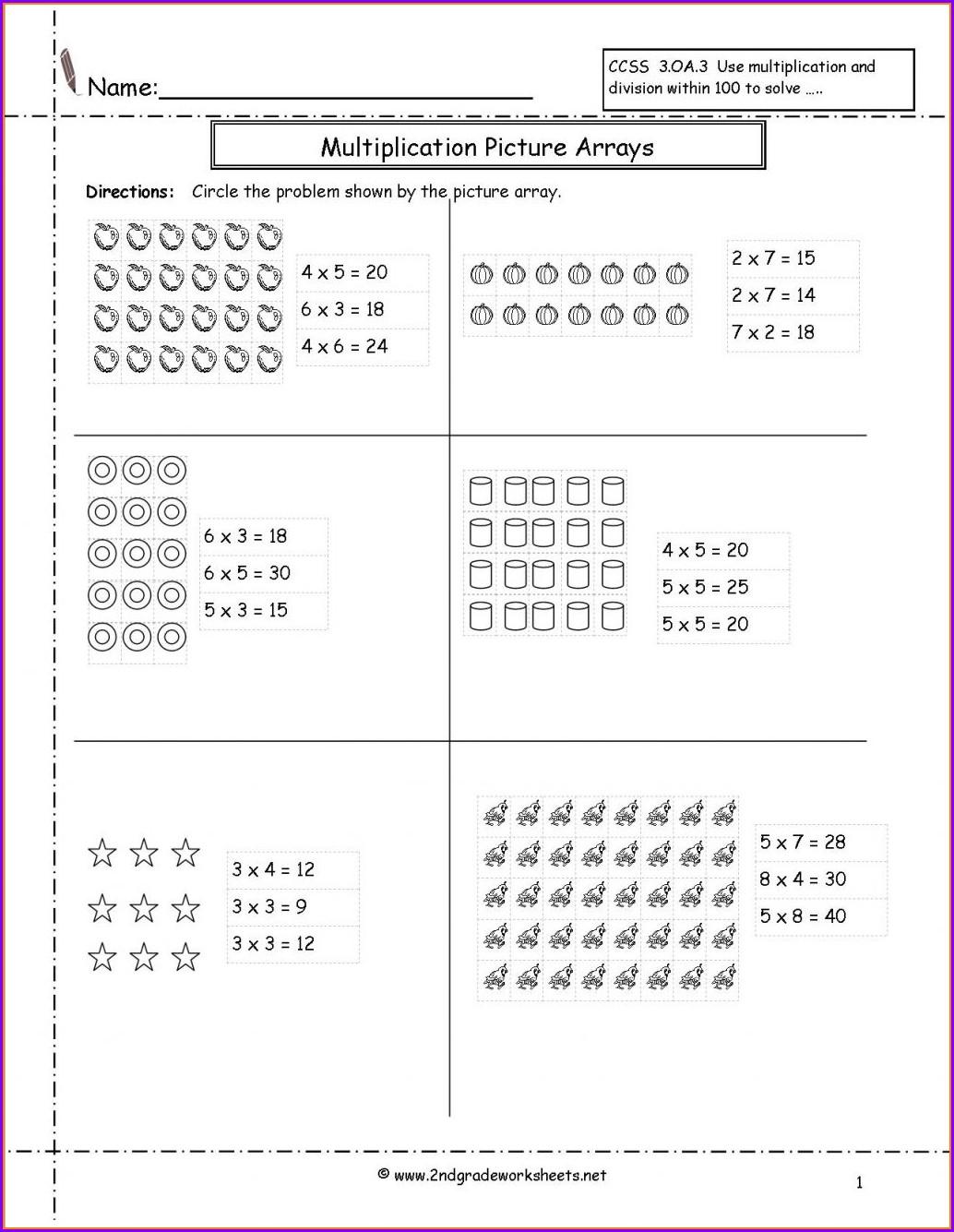 Multiplication Division Worksheet Pdf