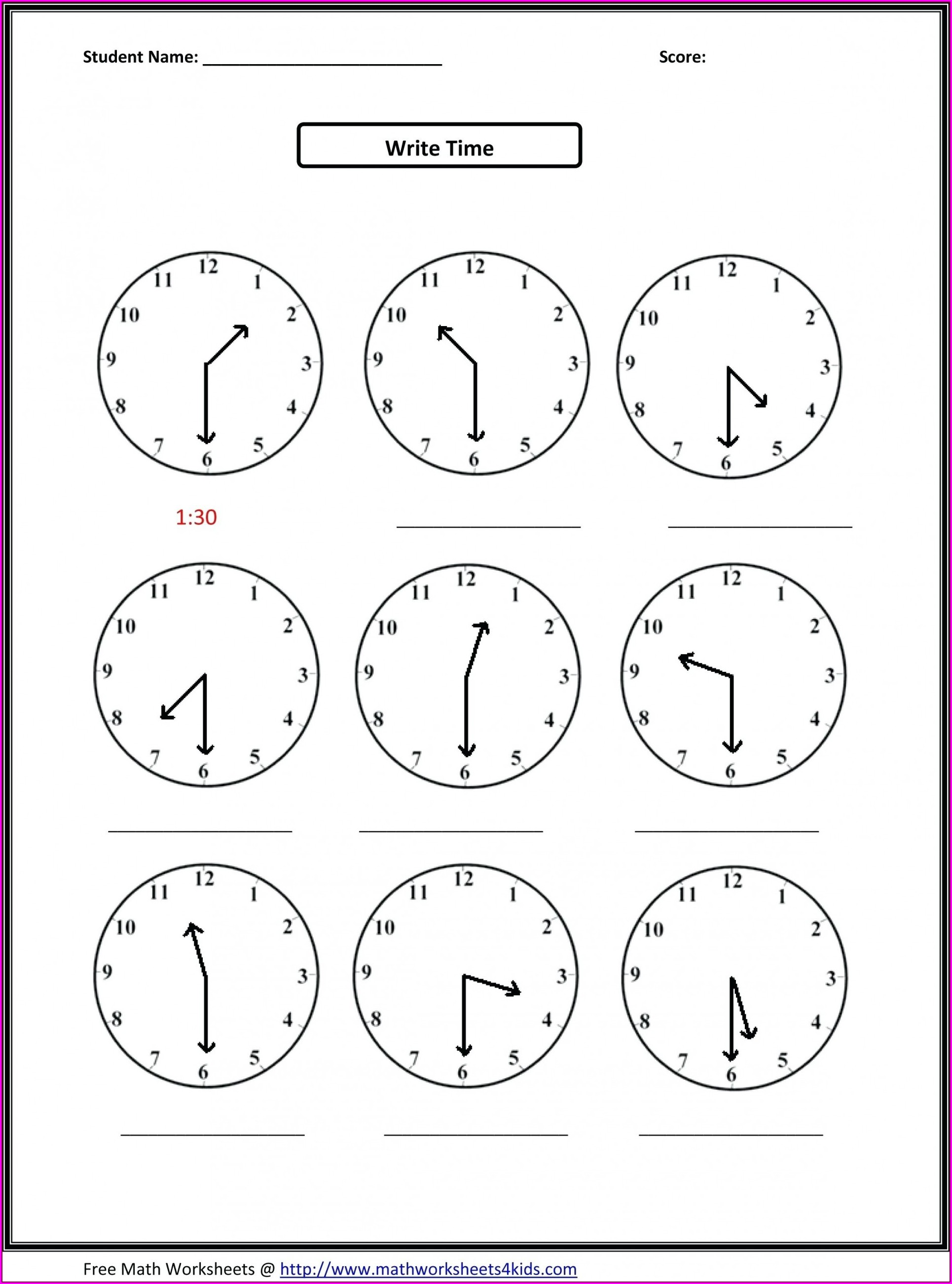 Multiplication Worksheet For 2nd Grade