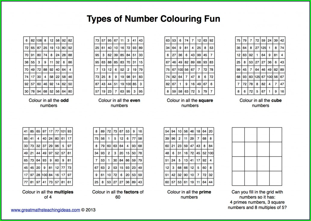 Multiplication Worksheet Ks3 Tes