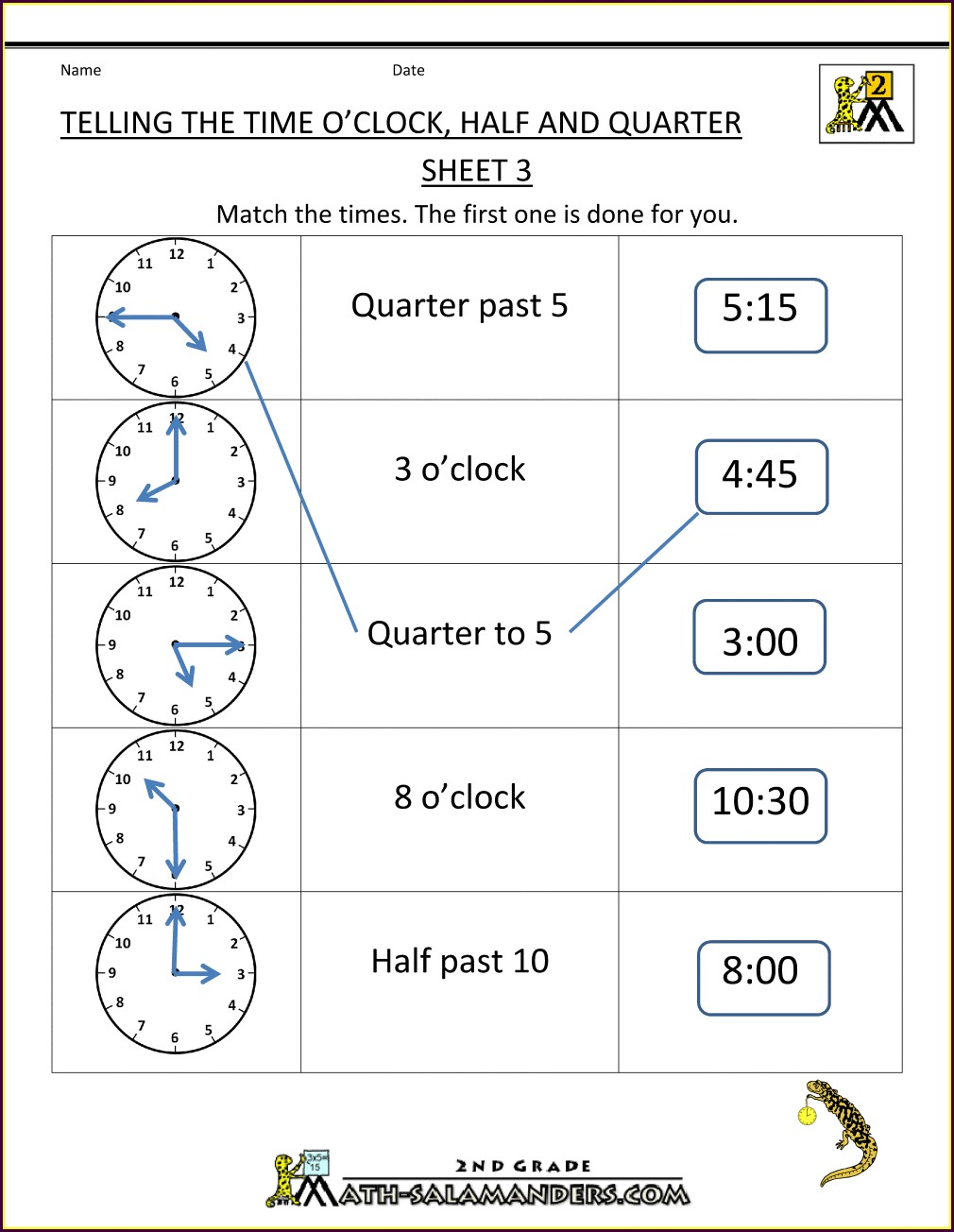 Multiplication Worksheets Half Page