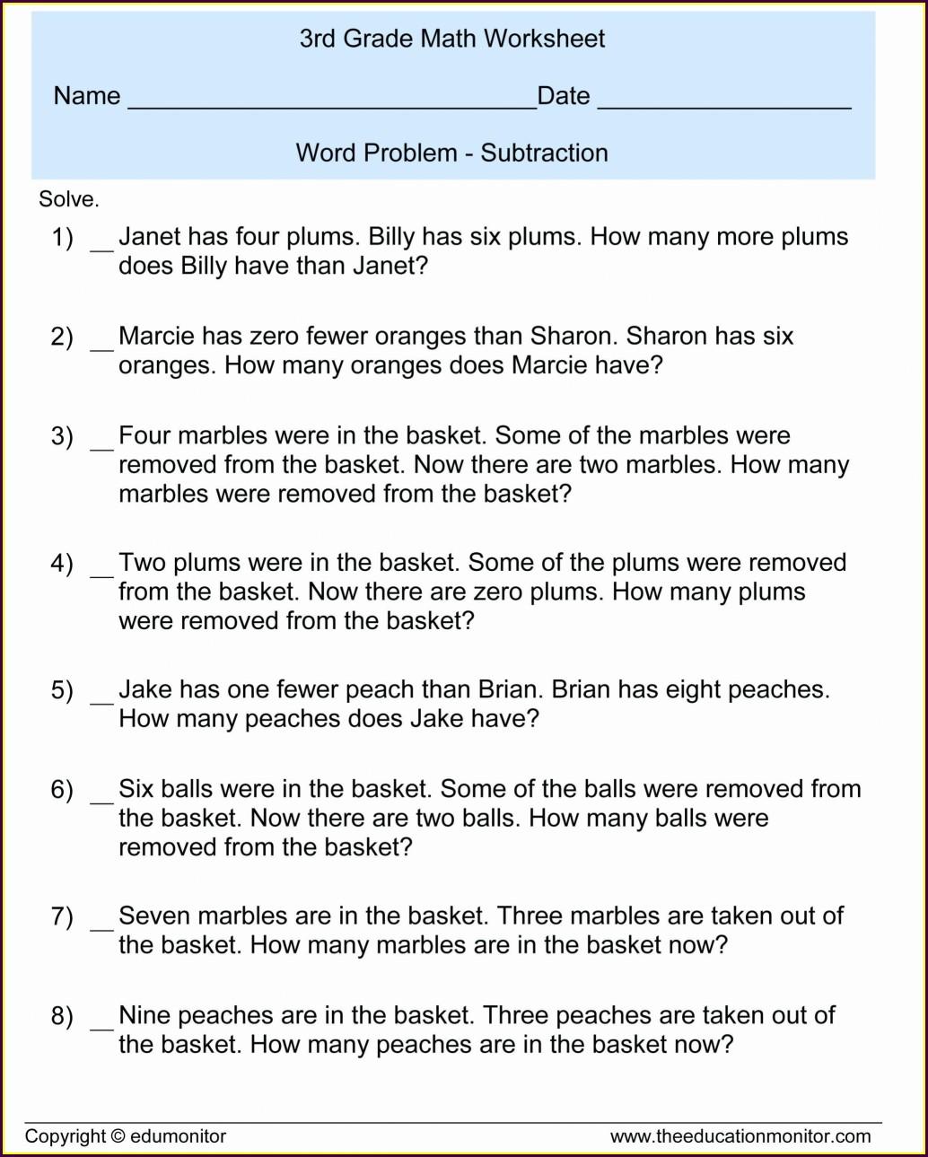 Multiplying Decimal Word Problems Worksheet Grade 5