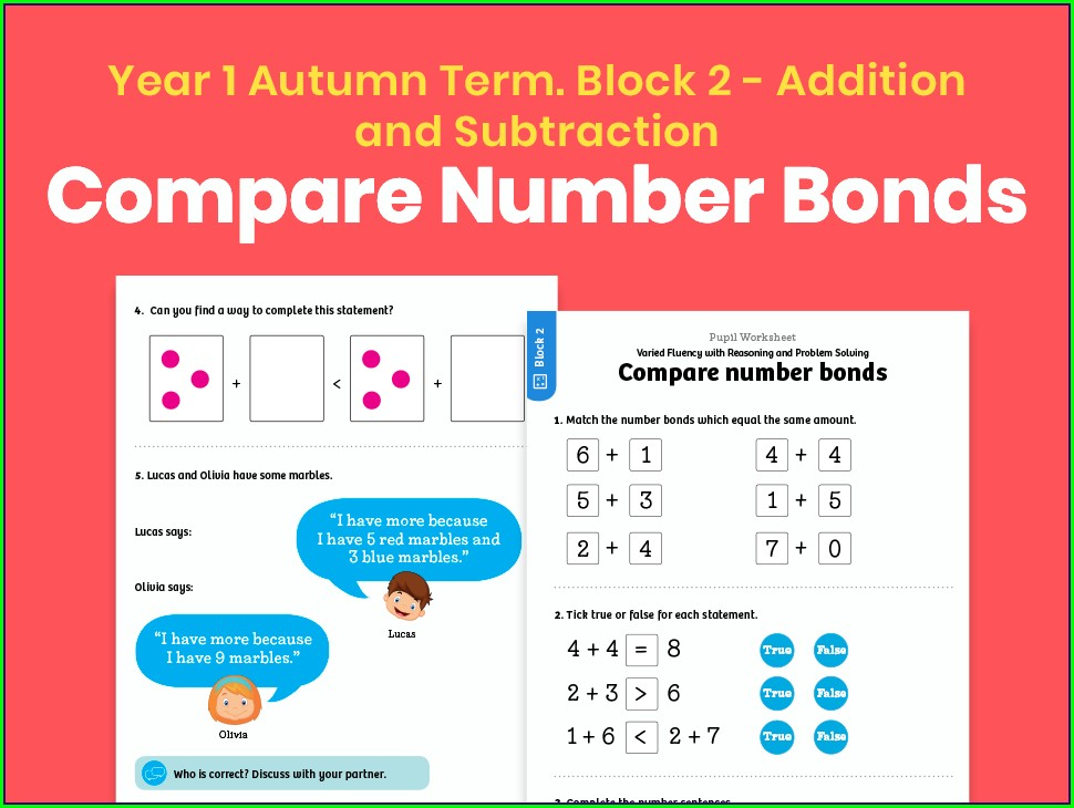 Number Bonds To 10 Matching Worksheet