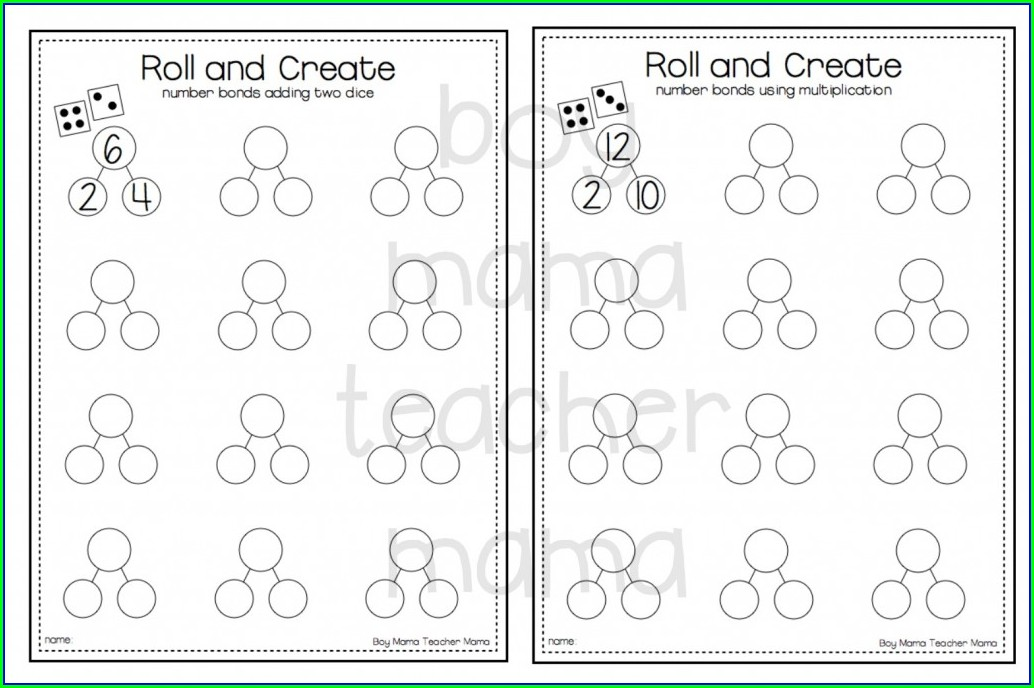 Number Bonds Worksheets Free