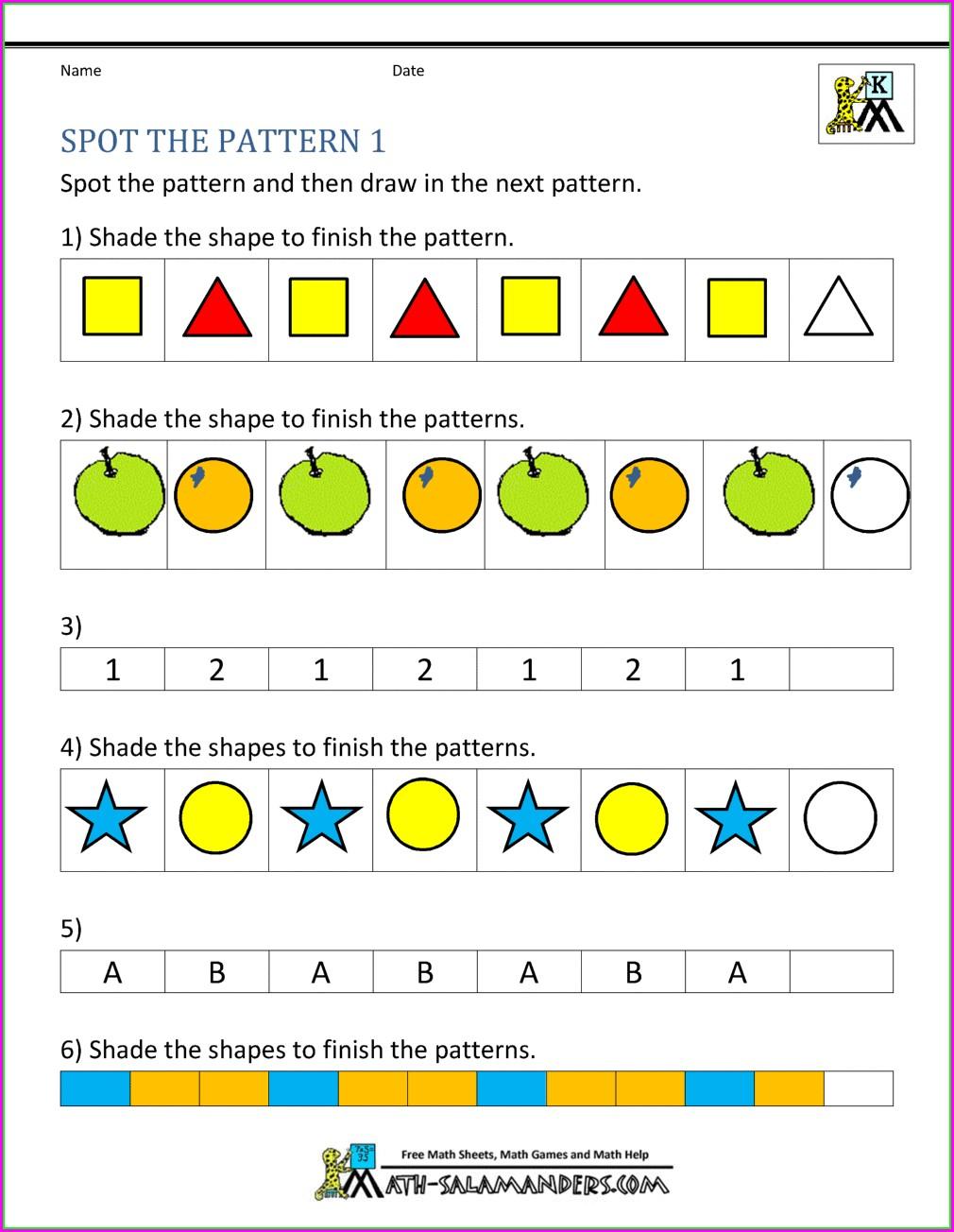 Number Pattern Worksheets 5th Grade Pdf