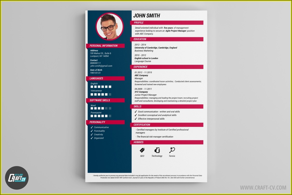 Online Resume Builder Free Template