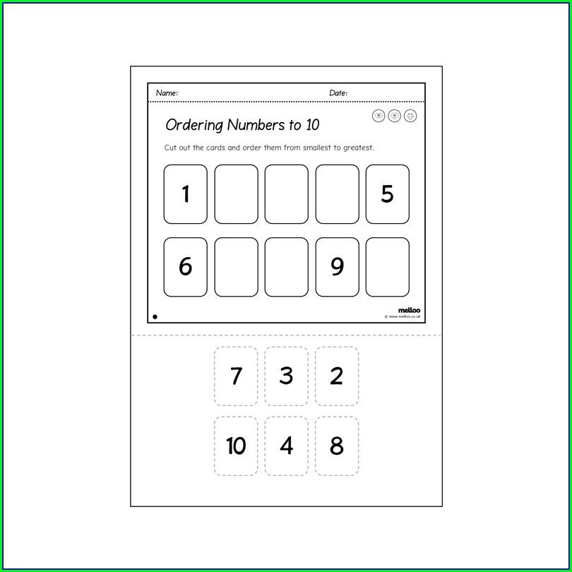 Ordering Numbers Smallest To Largest Worksheet Ks1