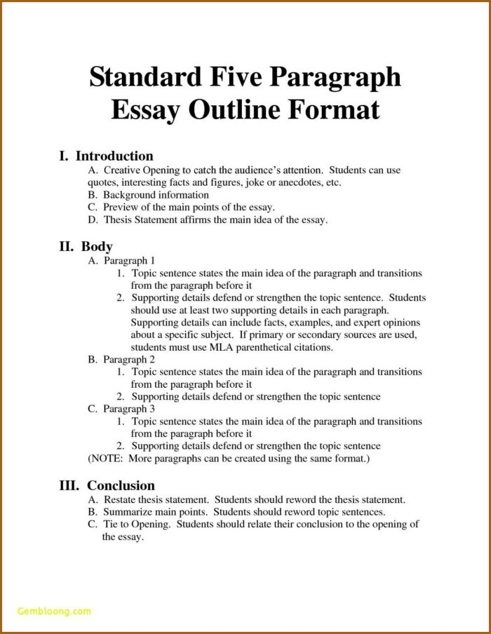Outline Practice Worksheet Middle School