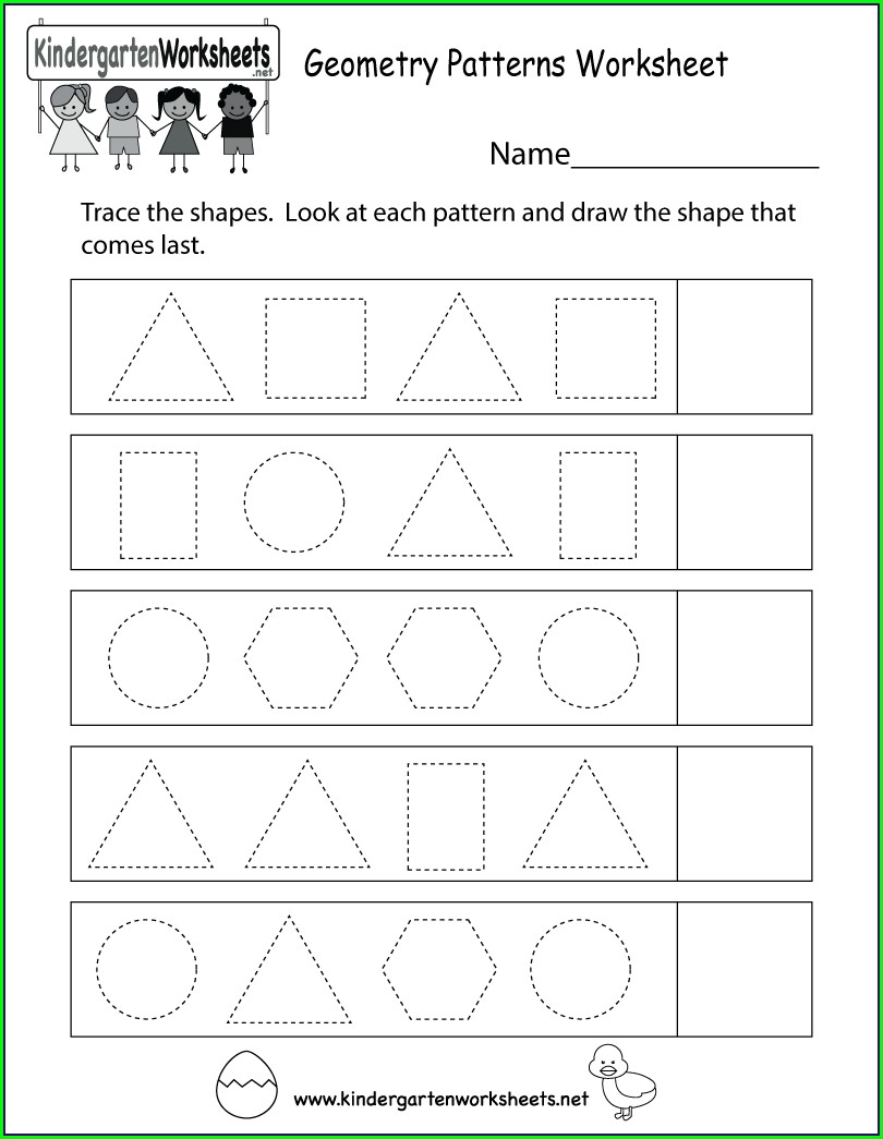 Pattern Worksheets For Kindergarten Pdf