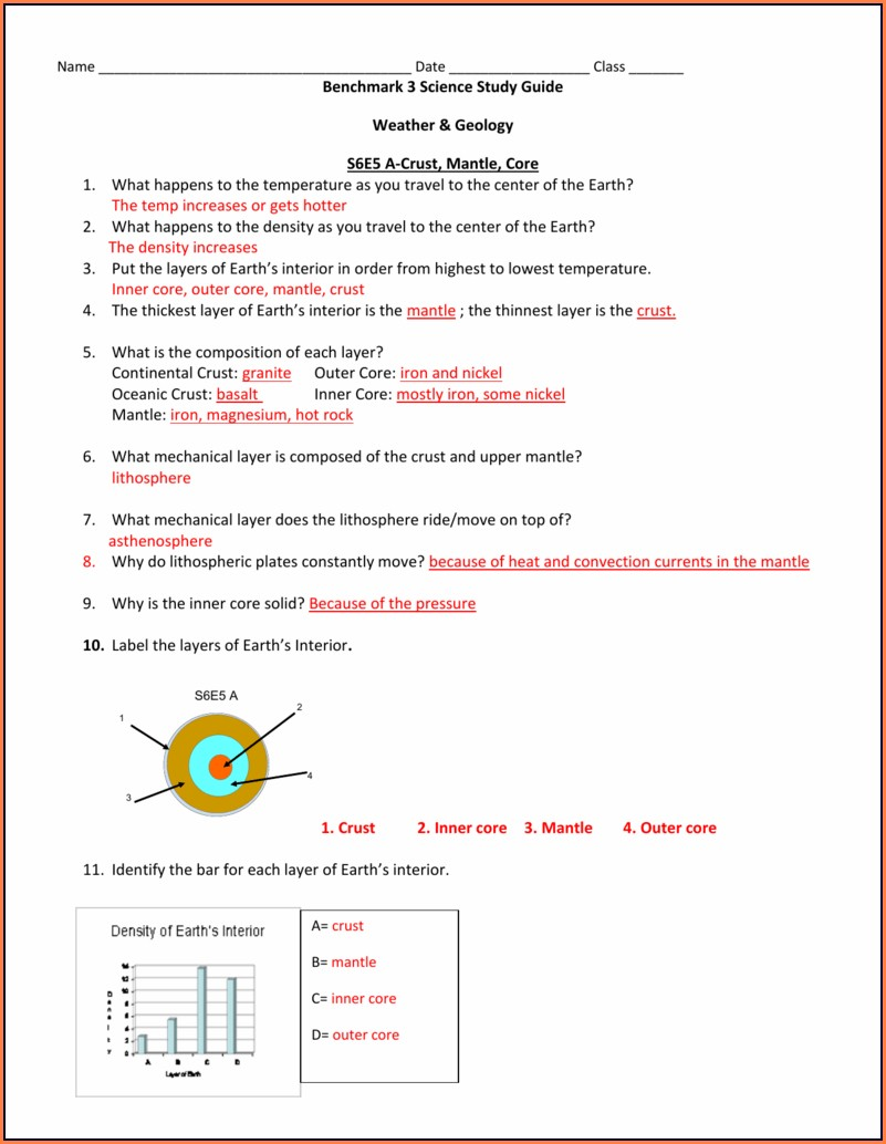 Plate Tectonics Convection Currents Worksheet