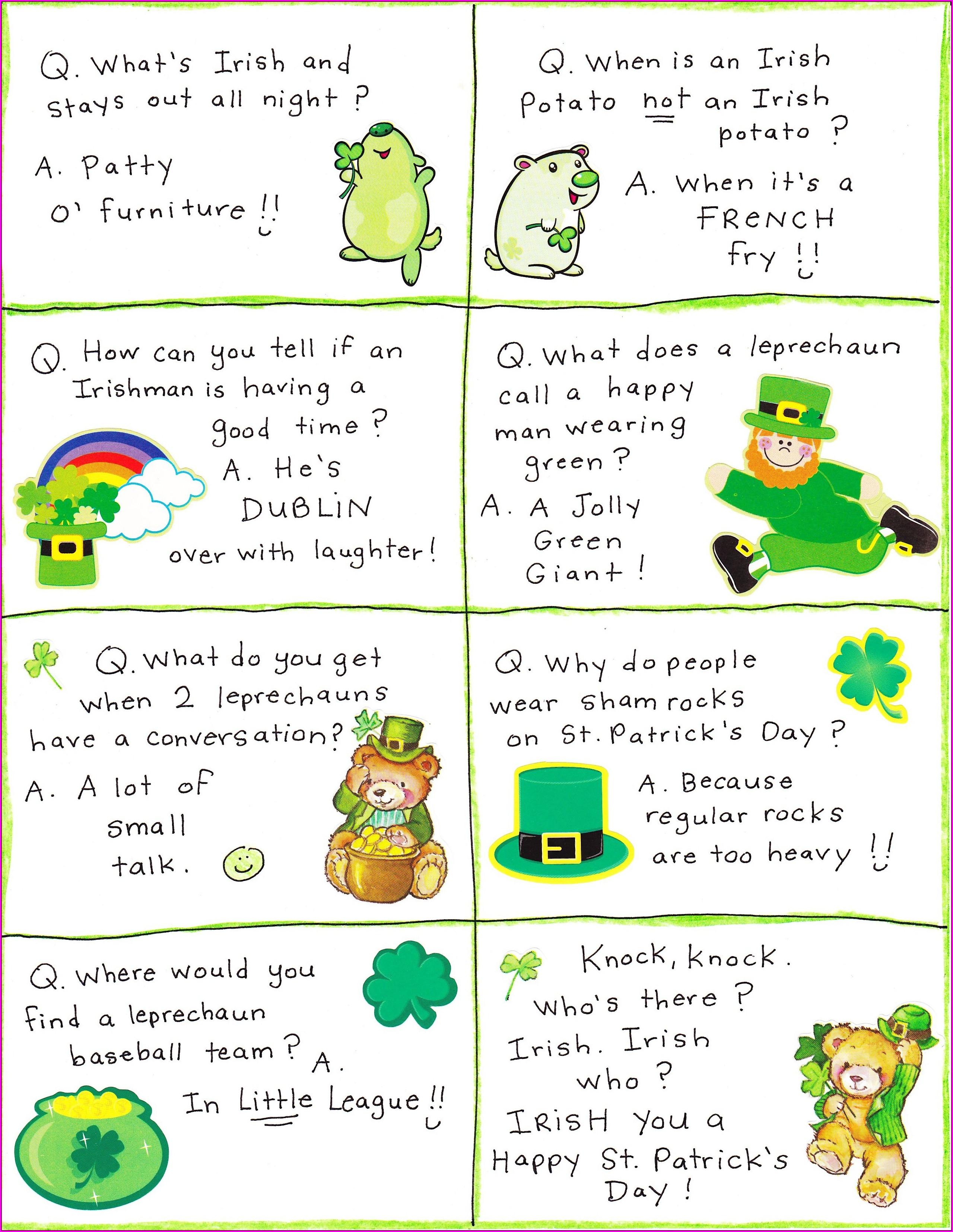 Preschool Printables St Patricks Day