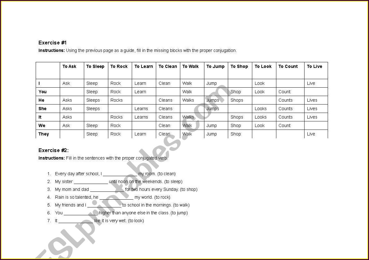 English Worksheet On Transitive And Intransitive Verbs