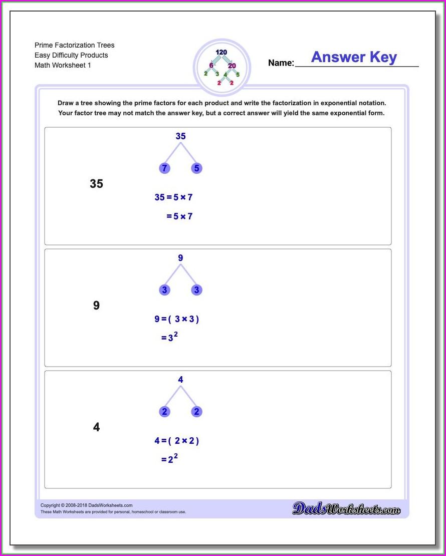 Prime Numbers Worksheet Grade 6