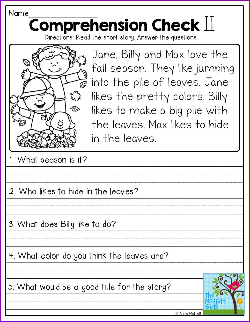 Printable 3rd Grade Reading Comprehension Worksheets Multiple Choice