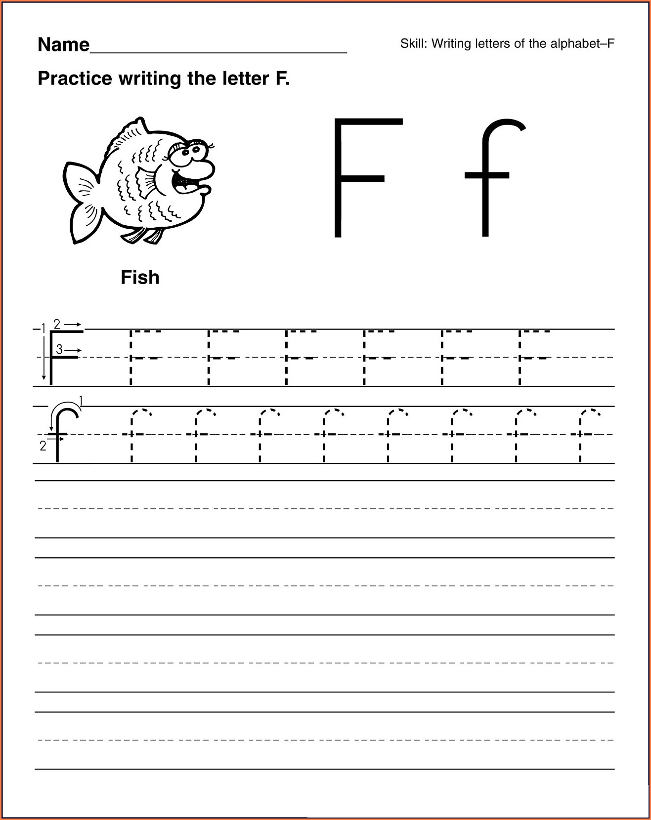 Printable Computer Worksheets For Kindergarten